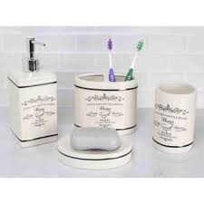 white bathroom accessories for less overstock com