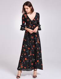 maxi dress with sleeves alisa pan sleeve floral print maxi dress