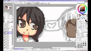 eu desenhando 1 pixel art youtube