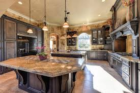Luxury Kitchen Lighting Kitchen Rustic Traditional Kitchen With Light Brown Granite