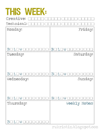 66 best printable weekly calendars images on pinterest