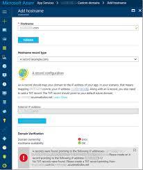 Ip Address Map How To Map A Domain To An Azure App Service U2013 Benjamin Perkins