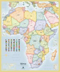Africa Political Map by Africa Political Wall Map Maps Com