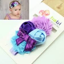 how to make baby flower headbands junior girl sequined bow flower headband diy grosgrain ribbon bow
