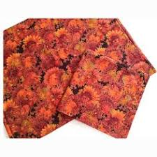 thanksgiving placemats and napkins fall floral by cranberrymak