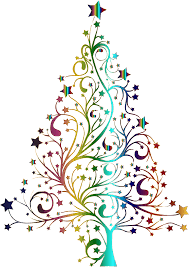 clipart starry christmas tree prismatic no background