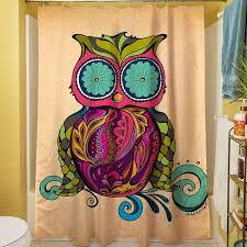 Owl Drapes Better Homes And Gardens Owl Shower Curtain Walmart Com