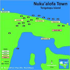 tonga map map of nukualofa town in tonga showing hotel locations