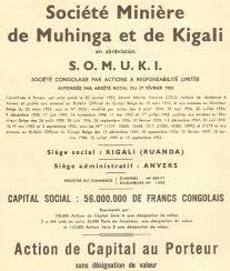 siege social traduction miniere de muhinga et de kigali societe congolaise accion 1953