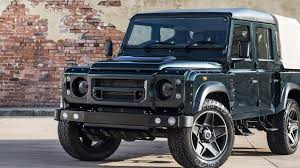 range rover defender pickup kahn design shows off their modified land rover defender double