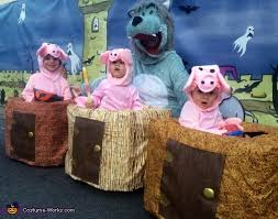 Toddler Pig Costume Halloween Pigs Big Bad Wolf Costume Wolf
