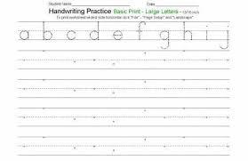 letter practice worksheets for kindergarten free handwriting