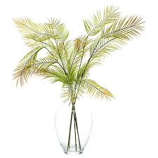 Buy Glass Vases Online Buy Peony Artificial Scandi Ferns In Glass Vase John Lewis