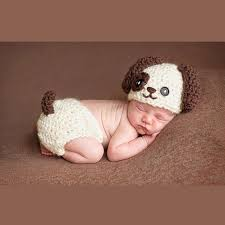 baby photo props baby infant knitted puppy dog costume set newborn photo props