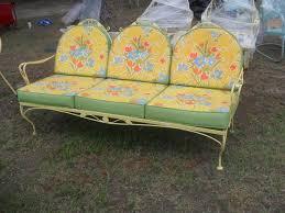 Vintage Patio Furniture Metal by 29 Best Metal Gliders Images On Pinterest Vintage Metal Outdoor