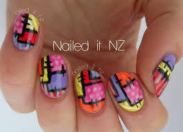 nailed it nz patchwork nail art tutorial