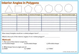 angles and polygons miss brookes maths ks3 worksheets algebra