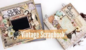 Vintage Scrapbook Album Vintage Scrapbook 12x12 With Box Youtube