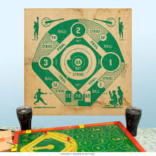 baseball dartboard plywood look wall decal game room decor