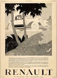 1929 ad renault automobile paris french deco vivastella model car
