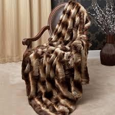 Faux Fox Fur Throw Best Home Fashion Wild Mannered Chinchilla Faux Fur Throw Blanket