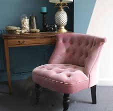 Pink Bedroom Chair | dusky pink velvet button back bedroom chair bedroom chair velvet