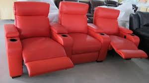Lazy Boy Leather Sofa by Modern Three Pieces Red Leather Reclining Lazy Chair With