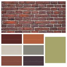 interior paint colors that go with red brick house paint