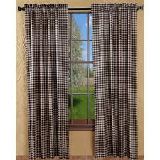 primitive curtains bingham star plaid drape panels 84