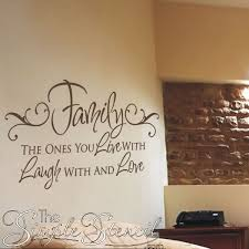 family quotes vinyl wall decals the simple stencil