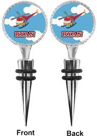 helicopter wine bottle stopper personalized potty