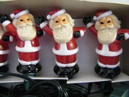 vintage santa christmas tree light covers 2 sets of 5 santa u0027s