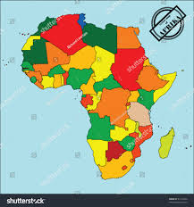 Political Map Africa by Political Map Africa Colors Easy Edit Stock Vector 43114264