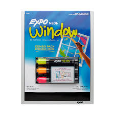amazon com expo neon markers and magnetic dry erase black board