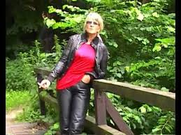 Real Leather Leggings Gloria 3 Smoking In Real Leather Pants Youtube