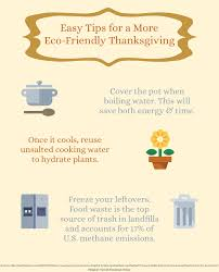 easy tips for a more eco friendly thanksgiving infographic