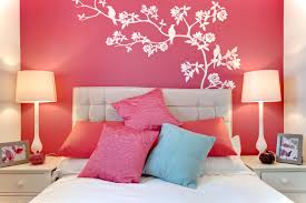 pink color of girls bedroom design ideas with pendant lamp also