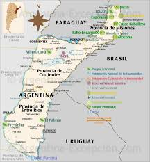 parana river map visiting northeast what to do tourism activities