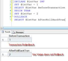 sql server difference temp table and table variable effect of