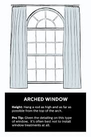 Where To Hang Curtain Rods Best 25 Arched Window Curtains Ideas On Pinterest Arched Window