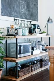 kitchen coffee bar ideas diy black pipe coffee bar station live simply