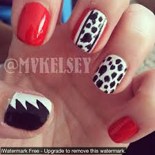 disney cruella devil nails my nails pinterest shellac