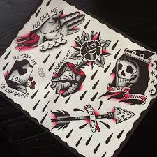 collection of 25 traditional coffee skull sheet