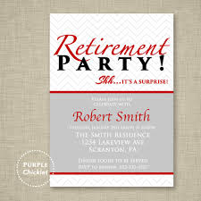 red surprise retirement party invitation farewell celebration