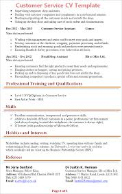 ms office cv format customer service cv template tips and download u2013 cv plaza