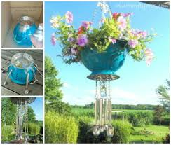 Pinterest Gardening Crafts - colander hanging basket wind chime cute gardening u0026 chickies