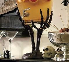 Pottery Barn Halloween Decorations Miscellaneous Skeleton Hand Drink Dispenser Stand Pottery Barn
