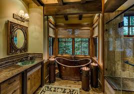 cabin bathroom designs cozy cottage look rustic bathroom décor unique hardscape design