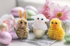 bunnies for easter easter pom pom animals