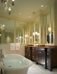 Mirror Wall Bathroom Classic Bathroom Moldings Traditional Bathroom And Walls